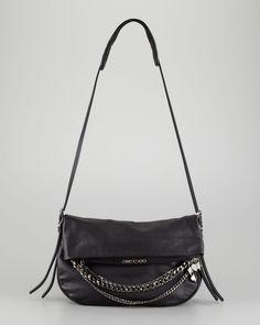 Gojee - Biker Chain-Detailed Shoulder Bag by Jimmy Choo