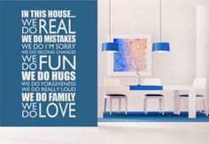 In this house we do... Wall Decal Quote - Decorative Vinyl Art