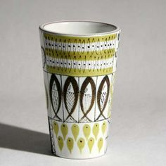 Stig Lindberg pottery is hard to beat and still looks contemporary.