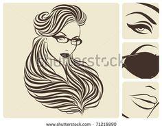 Glamorous design. Beautiful vector illustration.