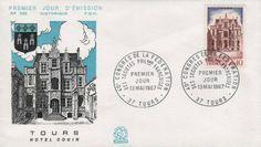 Timbre : 1967 TOURS HÔTEL GOUIN   WikiTimbres
