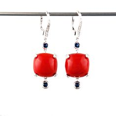 Bling, Drop Earrings, Jewels, Pearl, Jewel, Ear Jewelry, White Gold, Unique Jewelry, Red