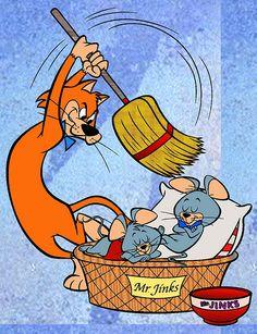 Pixie and Dixie Cartoon | Los ratones hartos de ser perseguidos por el gato con una