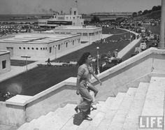 size: Premium Photographic Print: Young Women Walking Up Steps at the Beach Resort Mar Del Plata by Hart Preston : Artists Preston, Life Photo, Life Magazine, Photo Archive, Beach Resorts, Young Women, Framed Artwork, Find Art, Louvre