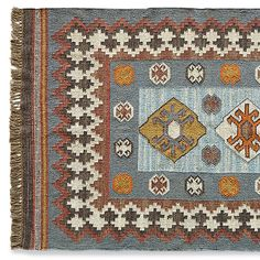 KAYENTA KILIM RUG -- Our handmade wool kilim rug was inspired by an antique Turkish kilim, in the colors of Southern Utah's magical landscapes. Pink And Blue Rug, Yellow Rug, Stair Rug Runner, Floral Rug, Home Rugs, Large Rugs, Tribal Rug, Woven Rug, Kilim Rugs