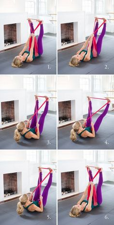 Resistance Band Abs and other amazing hotel room workout moves!Resistance Band Abs and other amazing hotel room workout moves! Band Workouts, Fitness Workouts, Fitness Gym, Lower Ab Workouts, At Home Workouts, Fitness Tips, Resistance Band Abs, Resistance Workout, Hotel Room Workout
