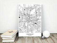 DORTMUND City Map  DIGITAL Files  5 DIFFERENT Sizes
