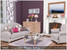 Garden Rose livingroom at Sims by Severinka • Sims 4 Updates