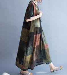 Été robe femme ample de lin longue robe longue robe de par MaLieb