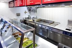 chipotle kitchen design | Chipotle: Wardour Street...Commercial Kitchen design layout commercial kitchen design industrial and residential size stainless steel tile STAINLESS STEEL BACKSPLASH Modern, Contemporary Kitchen Look www.stainlesssteeltile.com