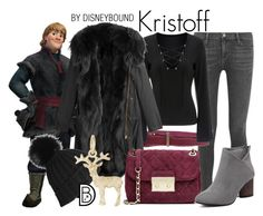 """Kristoff"" by leslieakay ❤ liked on Polyvore featuring Frame, Disney, Manila Grace, Barbed, MICHAEL Michael Kors, Black, Rembrandt Charms, disney, disneybound and disneycharacter"