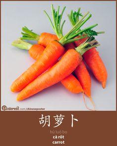 胡萝卜 - Húluóbo - cà rốt - carrot