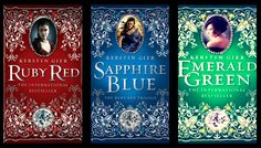 Edelstein Trilogie / The Ruby Red Trilogy by Kerstin Gier (EG to be released by 2013) Love these books! Can't wait for the last one!