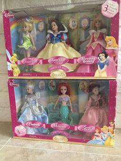Disney Princess Brass Key Porcelain Dolls Lot of 6 Cinderella Belle Ariel | eBay