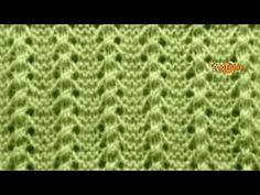 Curso de tejido. Tutorial. Punto Lineas Caladas. Tejido con dos agujas (tejido con dos palillos) Gráfico en mi blog http://silvana-tim.blogspot.com.ar/2016/1...