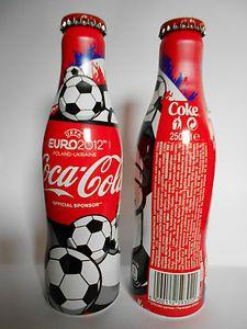 Flasche Aluminium Bottle alu coca cola Euro 2012 Aluminum
