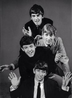 The Beatles. Love this pic of them