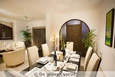Dining and living area at Holiday Villa Amelie (Ref. 2301)