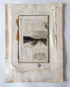 Old photograph, old book cover, old paper... (Used some beautiful old French paper in this piece from the wonderful @belle_brocante - check her IG for the most eye watering of French goodness! Thank you Alwen)