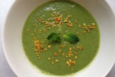 Green Chilled Soup.