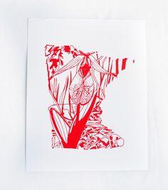 Thimblepress Minnesota Pink & White Lady's Slipper Flower Letterpress Print Push Pop Confetti, Bird Quotes, Wildflower Seeds, Letterpress Printing, All Flowers, Green Print, Quote Prints, Flower Prints, Flower Art