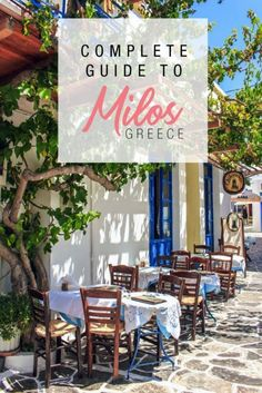 A travel guide on Milos Greece - how to get to Milos, beaches, what boat tour to take, what to do and where to stay in Milos. #Milos #Greece #GreekIslands