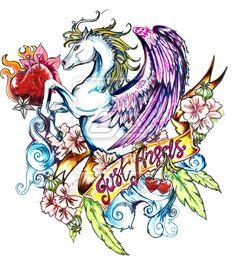 pegasus tattoo by ~wampirony on deviantART