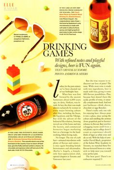 My story on the Best beers for wine lovers, ELLE Canada magazine