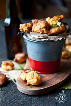 Sriracha Lime Beer Corn Fritters // add a garlic aioli dipping sauce, and I'm all in!!!