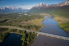Here's a unique view of the Knik River Bridge between Anchorage and the Mat-Su Valley in southcentral Alaska.