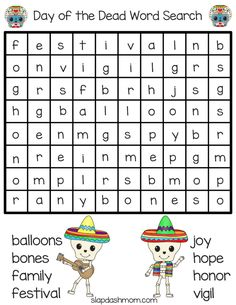 Day of the Dead free printable activity book for kids - coloring pages, tracing practice, word searches, and more. Catholic Holidays, Spanish Holidays, Halloween Crafts For Kids, Halloween 2020, Halloween Party, Holiday Club, All Souls Day, Lessons For Kids, Day Of The Dead