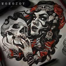 Resultado de imagen de vitaly morozov skull tattoo