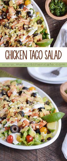 Chicken Taco Salad {InstantPot, Slow Cooker, or Stovetop}