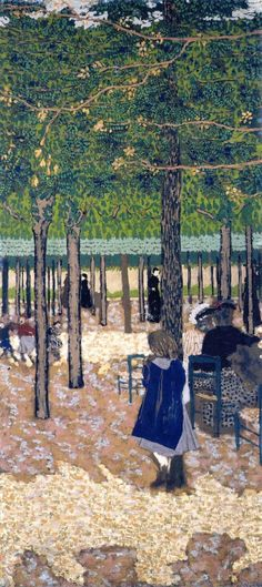 Edouard Vuillard, The Public Gardens - Under the Trees (hva)