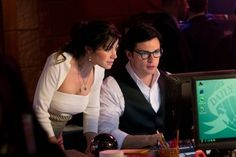 Tom Welling and Erica Durance in Smallville