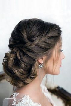 Bridal Hairstyles : 30 Graceful Wedding Updos With Braids wedding updos with braids low hairstyl
