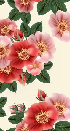 Floral Wallpaper Iphone, Vintage Flowers Wallpaper, Gothic Wallpaper, Flowery Wallpaper, Cellphone Wallpaper, Flower Backgrounds, Wallpaper Backgrounds, Flower Wall, Beautiful Flowers