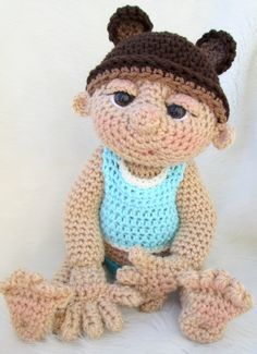 So Cute Baby Doll Crochet Pattern with Teddy Bear by WoolandWhims, $5.95
