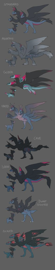 Pokevariations: Hydreigon by Zhoid on DeviantArt