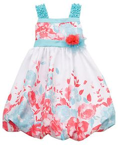 Rare Editions Kids Dress, Little Girls Floral Shantung Dress - Kids Shop All Girls - Macy's