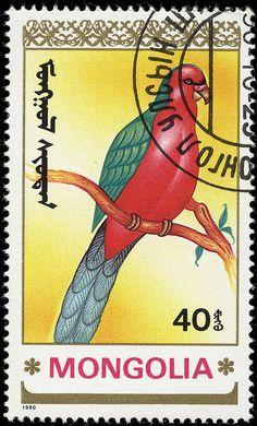 Postage Stamp, Mongolia, 1990