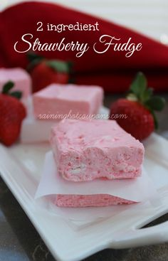 2-Ingredient Strawberry Fudge