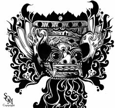 Barong by splashesofmonochrome. Flying totem head is an interesting idea