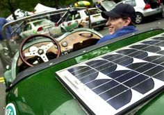 Like solar-powered homes, solar cars harness energy from the sun, converting it into electricity. That electricity then fuels the battery that runs the car's motor.