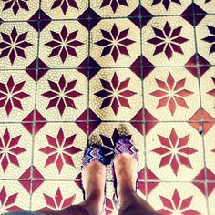 Traditional Peranakan Tiles are very cool and very South East Asian