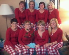 Matching pajamas...read about friendship and this great group of gals on my blog!  Check it out http://angelabanae.com/weekend-recap-shopping-friends-forever-friends/