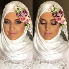 S U M A I Y A Our very beautiful half Australian- half Pakistani bride from last weekend. Absolutely gorgeous girl inside and out! Makeup hijab styling and flower crown by us @hiddenbeautydesigns by hiddenbeautydesigns
