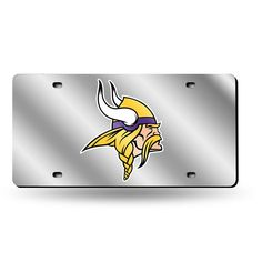 Minnesota Vikings NFL Laser Cut License Plate Cover Silver