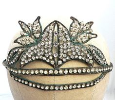 Crystal 1920s headband, which could be wearable today due to the current Great Gatsby-inspired love of Art Deco.