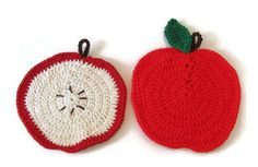 December 1st is Eat a Red Apple Day. Perhaps you'd rather display these apples in your kitchen to help celebrate the occasion! Apple Kitchen Combo.  Apple Potholder. Apple Slice Dishcloth. Harvest-Time Kitchen Duo Potholder/Dishcloth in Apple Design.  Ready-to-Ship
